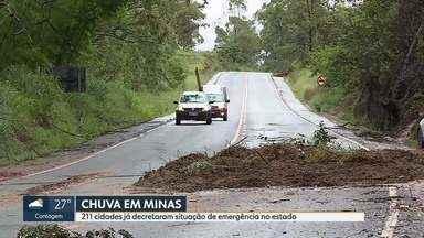 Duzentas e onze cidades decretam situação de emergência por causa da chuva em Minas Gerais - Setenta e uma pessoas morreram durante o período chuvoso desde o ano passado.