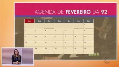 Veja a agenda de fevereiro e março da 92 - Cris Silva fala sobre o retorno do Posso Entrar?