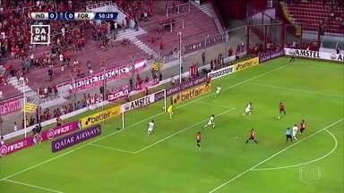 Fortaleza perde na estreia da Libertadores no jogo de ida - Fortaleza perde na estreia da Libertadores no jogo de ida