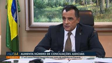 Número de conciliações judiciais sobe no Paraná - 77 mil casos foram resolvidos por meio de acordos no estado.