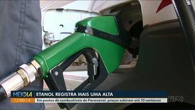 Preço do etanol teve reajuste nos últimos dias - Em postos de combustíveis de Paranavaí, o preços subiram até 10 centavos.