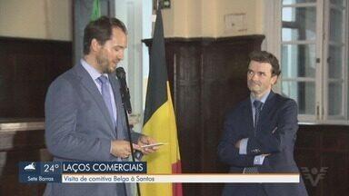 Comitiva Belga faz visita à Santos - Além de relação comercial, o que motivou a visita foi o fato da cidade ter sido visitada pelos reis do país há 100 anos.