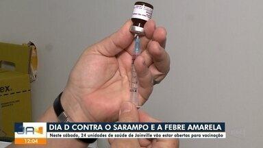 Postos de saúde de Joinville abrem para vacinação contra Sarampo e Febre Amarela - Postos de saúde de Joinville abrem para vacinação contra Sarampo e Febre Amarela