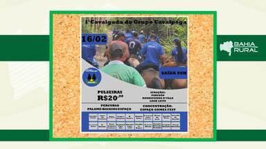 Agenda rural: veja eventos que acontecem neste final de semana; confira - Neste domingo (16) tem cavalgada em grupo na cidade de Esplanada.