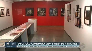 Exposição no MIS de São Paulo relembra vida e obra de Hilda Hist - Escritora viveu em Campinas e faria 90 anos em 2020. Projeto fica em cartaz até 15 de março.