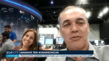 Sandro Dalpículo se prepara para apresentar o Jornal Nacional - Apresentação será neste sábado dia 15.