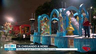 Escolas do grupo A do carnaval de Vitória fazem desfiles nesta sexta - Está chegando a hora!