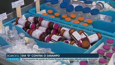 'Dia D' contra o sarampo vai ser no sábado (15); veja onde se vacinar em Ponta Grossa - De acordo com a prefeitura, quatro unidades de saúde ficarão abertas do meio dia às cinco da tarde.