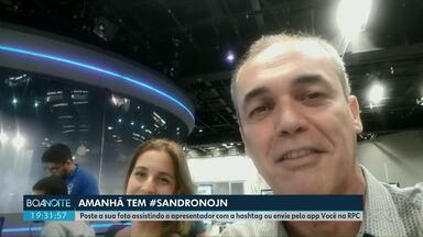 Sandro Dalpícolo, da RPC, e Luana Borba, da Rede Amazônica apresentam JN neste sábado (15) - Eles já estão no Rio de Janeiro na redação do Jornal Nacional.