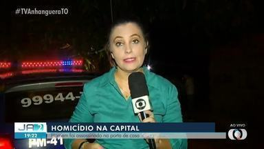 Homem é morto a tiros na porta de casa em Palmas - Homem é morto a tiros na porta de casa em Palmas