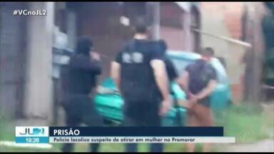 Suspeito de atirar em mulher no conj. Promorar é preso pela Polícia Civil em Belém - O crime foi na semana passada.
