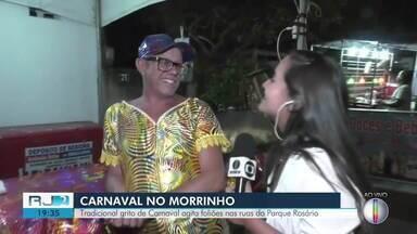 Bloco tradicional em Campos, RJ, agita os foliões nas ruas do Centro - Alice Sousa está ao vivo trazendo mais informações sobre o carnaval do Morrinho.