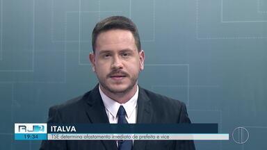 TSE determina afastamento imediato de prefeita e vice, de Italva, RJ - Novas eleições serão convocadas e até lá quem vai assumir o executivo será o presidente da câmara Alcirley Lima.