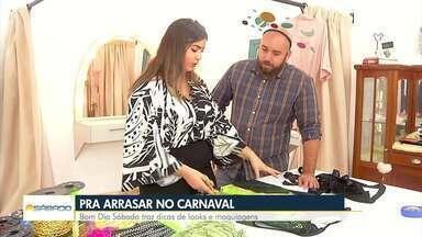 Confira dicas de maquiagem e acessórios para arrasar no carnaval - Assista a seguir na reportagem de Ádison Ramos.
