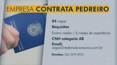 Confira as vagas de emprego disponíveis na região Metropolitana de Goiânia - Empresa oferece 4 vagas para pedreiro em Goiânia.