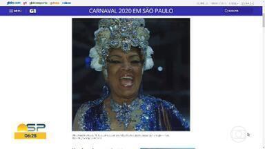 Porta-bandeira do carnaval do Rio sofre acidente em São Paulo - Vilma Nascimento, de 81 anos, estava embarcando num trem na estação Butantã da Linha 4-Amarela, quando tropeçou. Ela bateu o rosto numa barra de ferro e a cabeça no banco da plataforma.