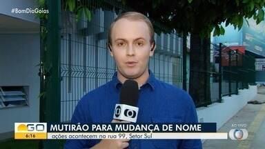 Secretaria dos Direitos Humanos faz mutirão para mudança de nome, em Goiânia - Ações acontecem na Rua 99, no Setor Sul.