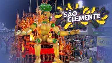 """São Clemente - Grupo Especial (RJ) - Íntegra do desfile de 24/02/2020 - A escola apresenta o enredo """"O Conto do Vigário"""" e conta a história da """"vigarice brasileira""""."""