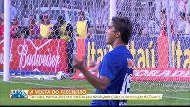 Com festa, Marcelo Moreno é recebido pela torcida do Cruzeiro em Belo Horizonte - Com festa, Marcelo Moreno é recebido pela torcida do Cruzeiro em Belo Horizonte