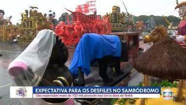 Sambódromo do Anhembi: são esperadas mais de 150 mil pessoas nos cinco dias de desfiles - Amanhã (21) é o primeiro dia de desfile do Grupo Especial no Sambódromo do Anhembi.