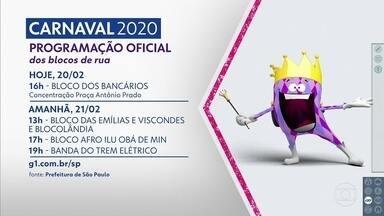 Carnaval de rua começa a ferver no Centro da capital - A partir das 16h desta quinta (20) tem o Bloco dos Bancários, que sai da Praça Antônio Prado.