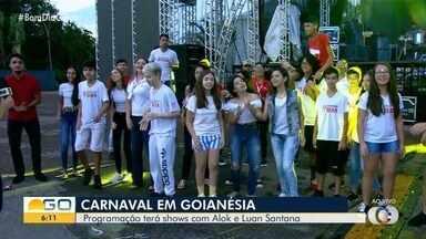Foliões começam a se preparar para o carnaval de Goianésia - Programação terá shows com Dj Alok e Luan Santana.