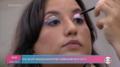 Amanda Britto dá dicas para arrasar na maquiagem e nas fantasias - Confira o que está em alta na folia do carnaval 2020