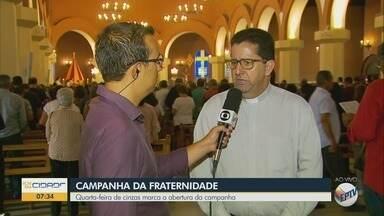 Quarta-feira de cinzas marca a abertura da Campanha da Fraternidade - Igrejas do Sul de Minas têm missas ao longo do dia
