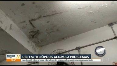 UBS em Heliopolis acumula problemas - Médico já interrompeu atendimento porque chovia dentro do consultório.