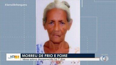 Corpo de idosa é encontrado na zona rural de Goiatuba - Ela estava desaparecida e sofria de Alzheimer.