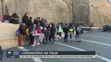 Itália fecha pontos turísticos devido aos casos de coronavírus - País recebe muitos visitantes da Ásia, o que gera preocupação.
