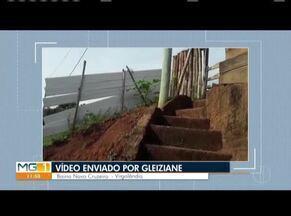 VC no MG: Moradora de Virgolândia denuncia poste tombando no bairro Novo Cruzeiro - Cemig afirma que não há risco iminente de queda, mas moradora discorda
