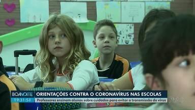 Escolas intensificam orientação sobre prevenção ao novo Coronavírus - Em Curitiba, crianças participam de palestras sobre a doença.