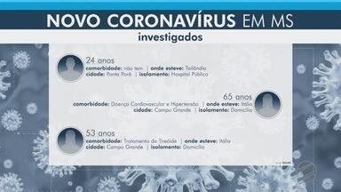 Atualização de suspeitas de coronavírus no Estado - Mato Grosso do Sul tem cinco casos suspeitos da doença, porém ainda nenhum caso foi confirmado