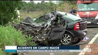 Acidente na BR-343 deixa 3 mortos em Campo Maior - Acidente na BR-343 deixa 3 mortos em Campo Maior
