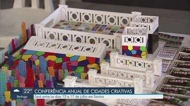 Santos recebe comitiva internacional da Unesco para visita técnica - Representantes vão conhecer espaços que abrigarão a Conferência de Cidades Criativas.