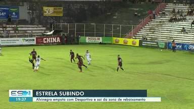 Estrela sai da zona de rebaixamento ao empatar com a Desportiva - Jogo foi na noite desta quarta-feira (26), no Sumaré.