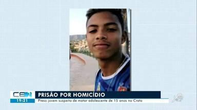 Preso jovem suspeito de matar adolescente no Crato - Confira mais notícias em g1.globo.com/ce