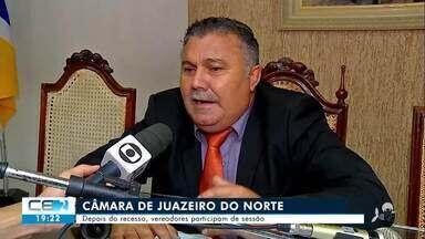 Depois do recesso, vereadores participam de sessão na câmara de Juazeiro do Norte - Confira mais notícias em g1.globo.com/ce