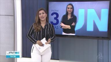 Ana Lídia se prepara para apresentar o JN no próximo sábado - Jornalista de Rondônia já chegou no Rio de Janeiro
