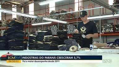 Indústrias paranaenses cresceram 5,7% - Foi o maior desempenho desde 2011.