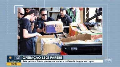 Operação da polícia em Lages prende sete suspeitos de roubo e tráfico de drogas - Operação da polícia em Lages prende sete suspeitos de roubo e tráfico de drogas