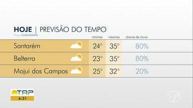 Confira a previsão do tempo para o fim de semana em Santarém e região - Fique bem informado sobre o tempo e o clima na região.