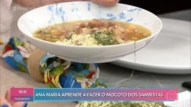 Mocotó - Banana, percussionista da banda de Jorge Aragão, prepara sua receita com temperos exclusivos para Ana Maria Braga