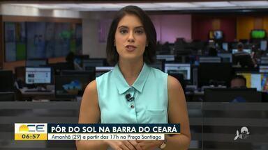 Sábado tem Pôr do Sol Musical na Barra do Ceará - Saiba mais em g1.com.br/ce