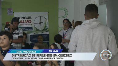 Cruzeiro tem distribuição de repelentes contra dengue - Cidade de quase 1.500 casos e duas mortes pela doença.