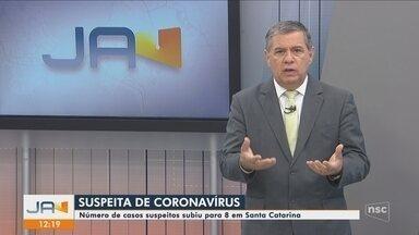 Nº de casos suspeitos de coronavírus em SC sobe para 8; campanha contra gripe é antecipada - Número de casos suspeitos de coronavírus em SC sobe para 8; campanha contra gripe é antecipada
