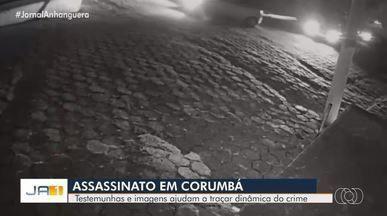 Motorista morto na porta de casa levou 8 tiros e voltava da missa ao ser atingido - Imagens mostram carro do suspeito passando logo após o da vítima e fugindo em seguida. Delegado apura se colisão no trânsito motivou crime, ocorrido em Corumbá de Goiás.