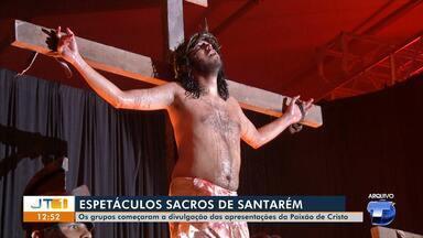 Espetáculos sacros são realizados por grupo de teatro em Santarém - Os grupos começaram a divulgação das apresentações da Paixão de Cristo.