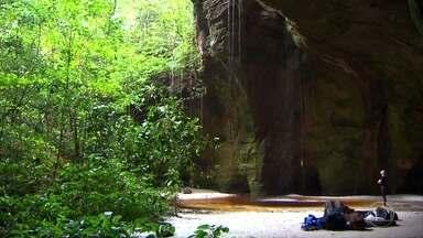 Caminhada por mata virgem revela animais e segredos da Amazônia - Rochas e cavernas quase desconhecidas, com milhares de anos de história. Equipe do Globo Repórter mostra um paraíso no meio de um cânion, a gruta da Judéia.